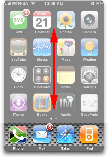 iphone scroll up down 790650