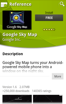 Android Market Product Page
