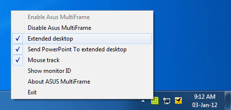 MultiFrame Options