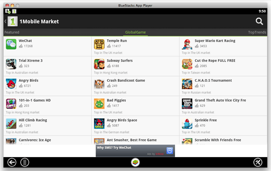 1Mobile Market third party Android Market App