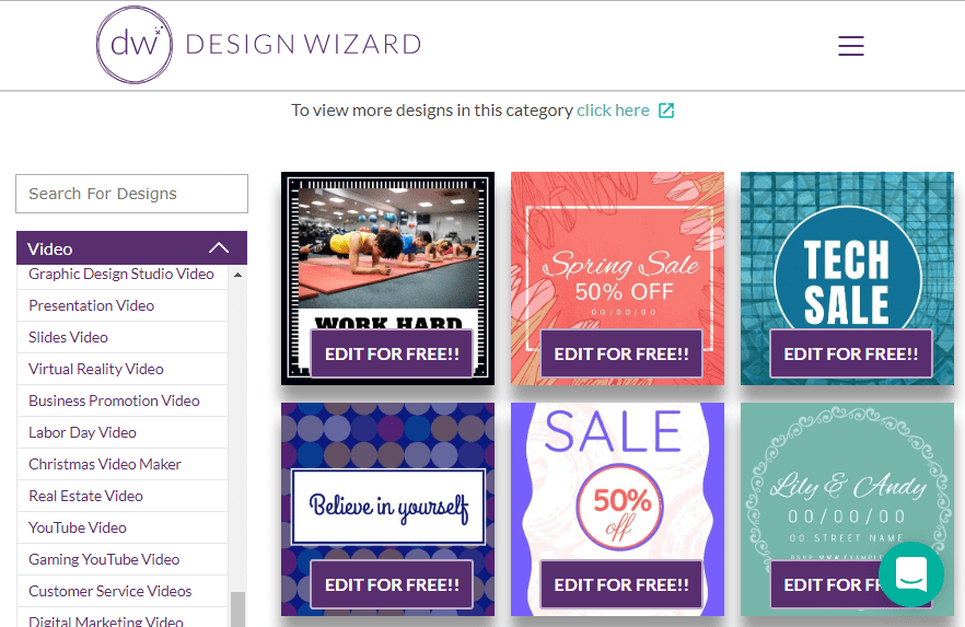DesignWizard FREE and Premium Design Templates