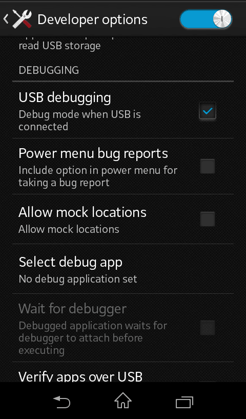 USB-Debugging