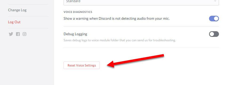 Reset Discord Voice Settings