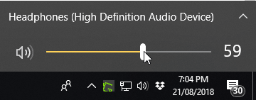 Windows 10 Taskbar Volume Icon