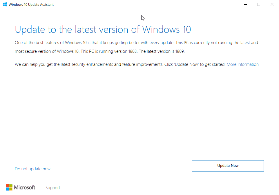 Windows 10 Update Assistant October Update