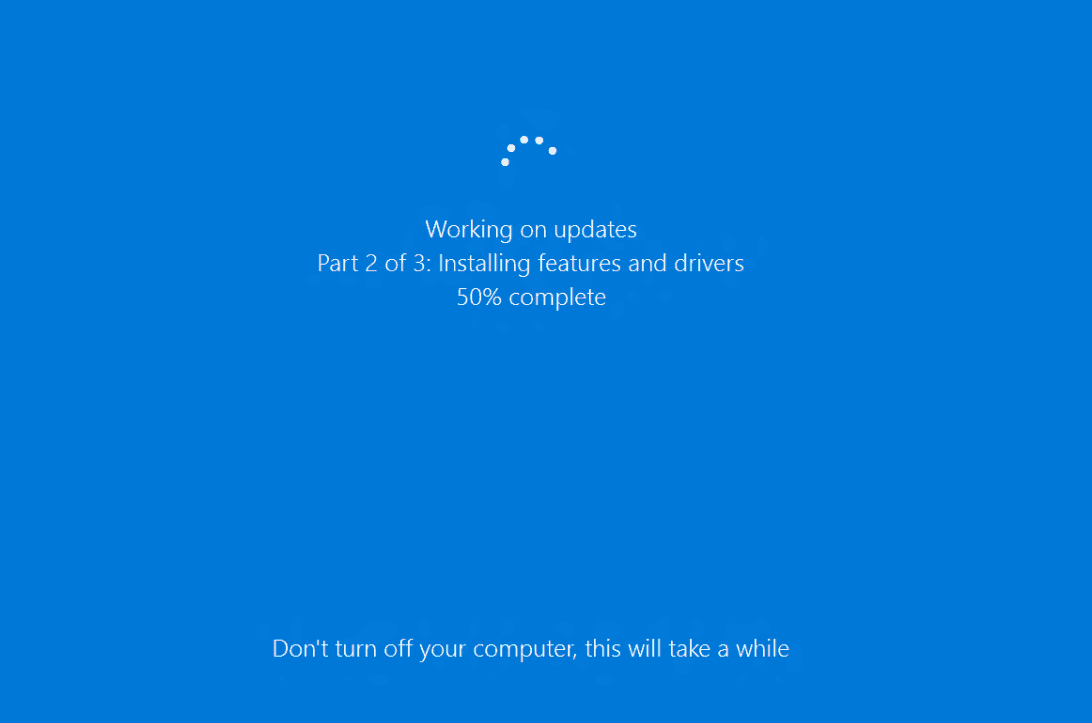 Windows 10 Updates Installing Stuck 1809