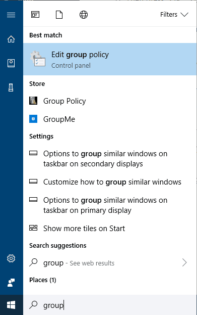 Search Group Policy