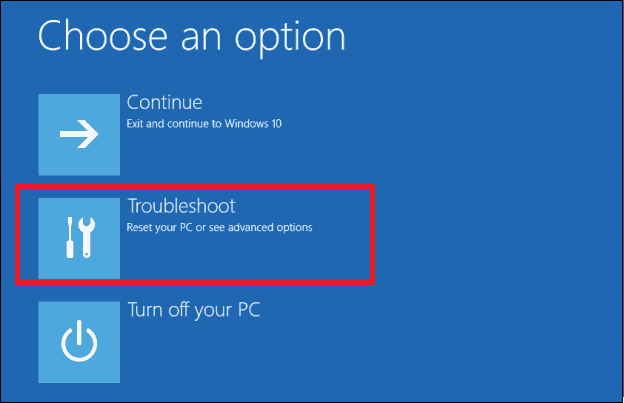Troubleshooting in advanced restart