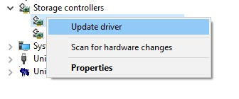 AHCI Drivers in Device Manager