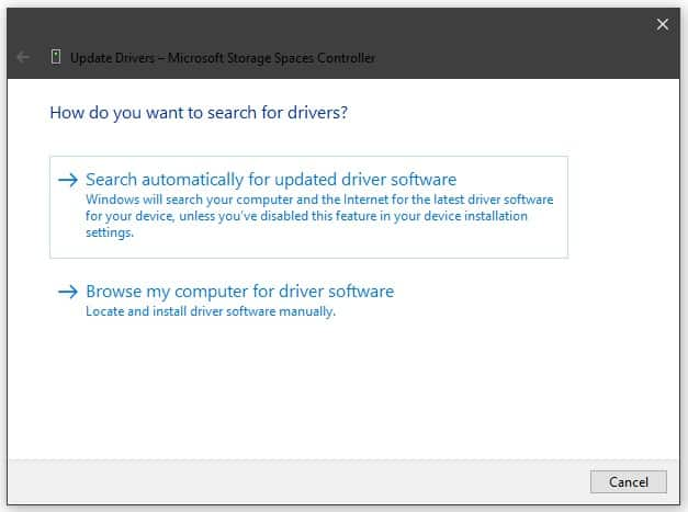 Search for Drivers Automatically
