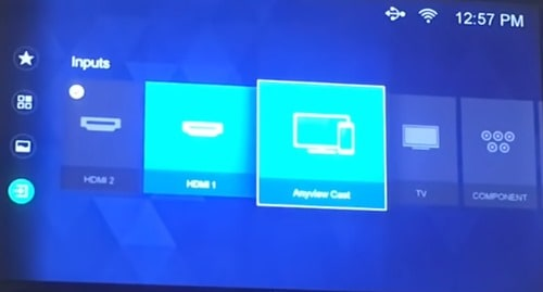 Turn on Anyview cast on a smart TV