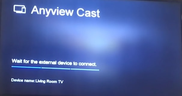 Anyview cast turning on