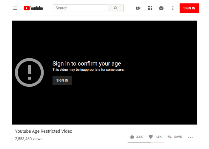 Watch Youtube Age Restricted Video