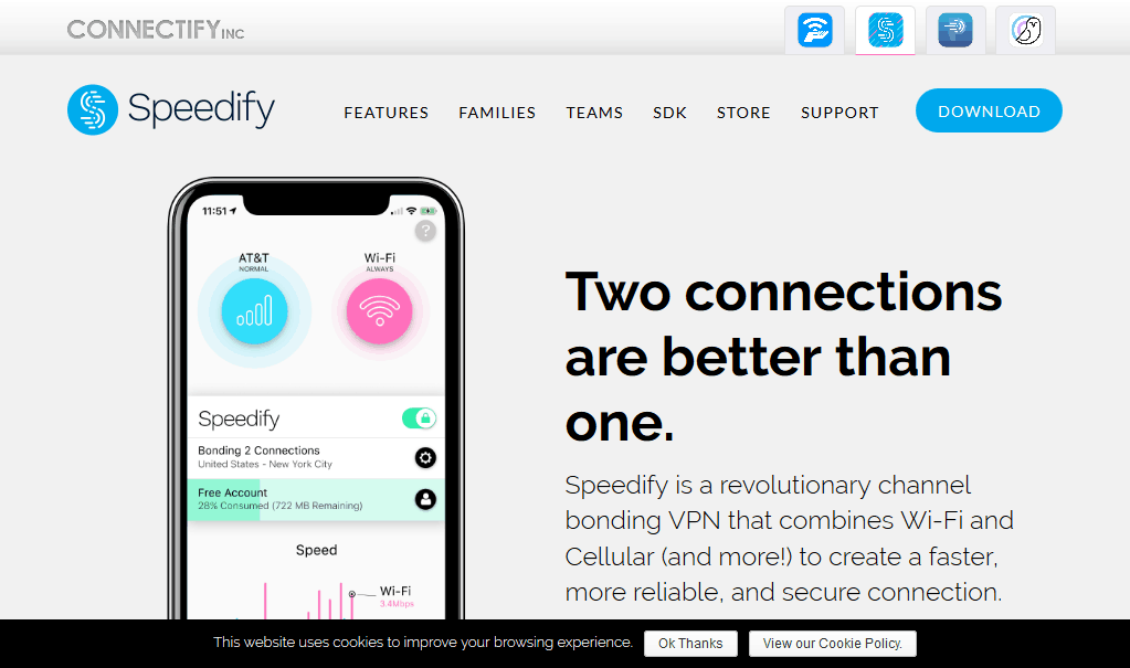 Speedify - Channel Bonding, Link Aggregation, and VPN Solutions