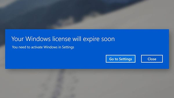 Your Windows License will Expire Soon [Windows 10]