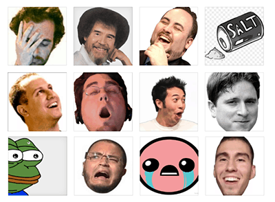 Most Used Twitch Emotes