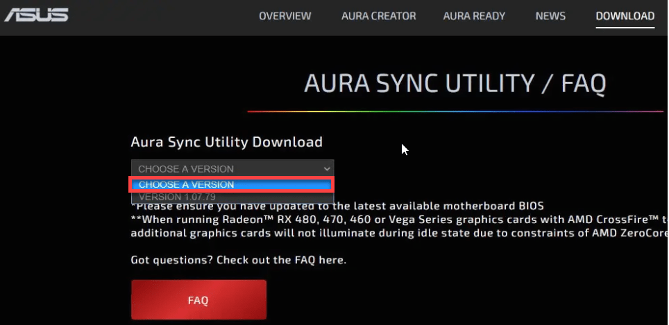 How to fix AURA Sync Not Working