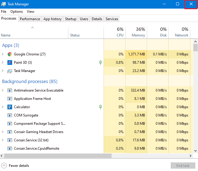 Close Task Manager