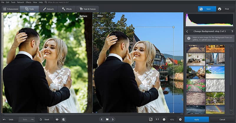 PhotoWorks - Work with Background