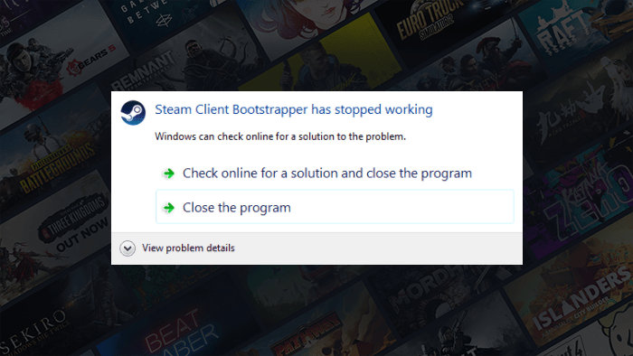 Steam Client Bootstrapper Stopped Working