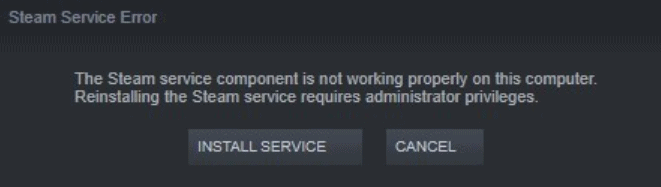 Steam Service Component not Working